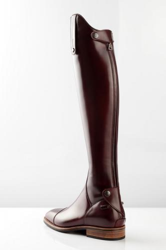 Deniro equestrian boot traditional no lace front rear zipper zip